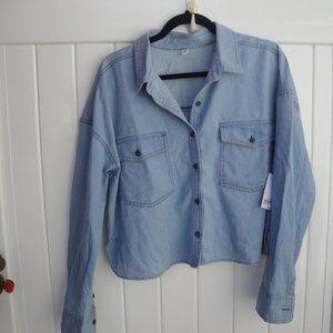 Nordstrom BP  Blue Chambray Shirt Jacket Large NWT